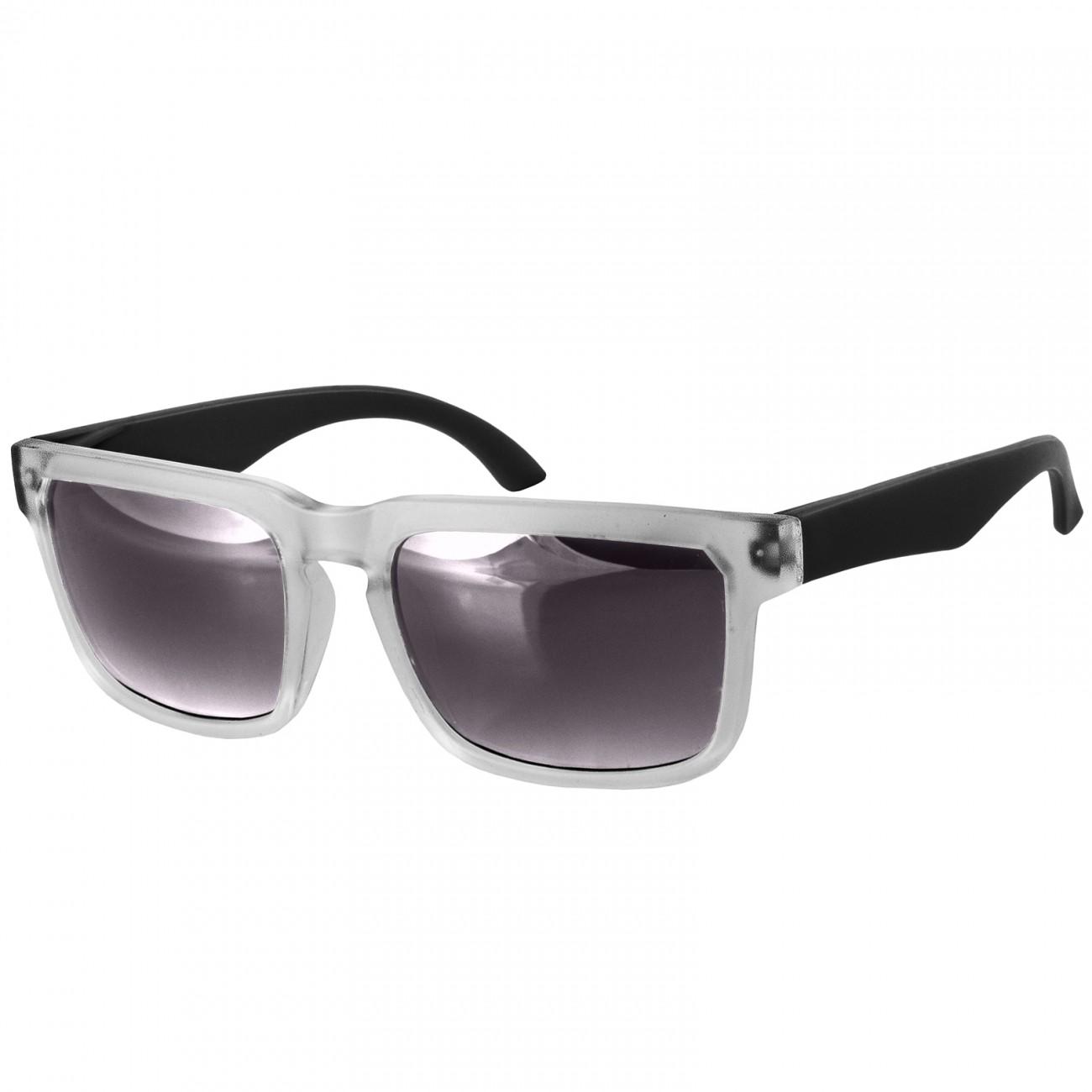 CASPAR Unisex Wayfarer Brille Sonnenbrille mit durchsichtigem Rahmen ...