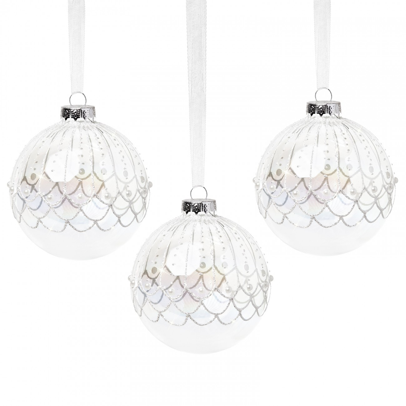 Sikora bs383 glas christbaumschmuck weihnachtskugeln 3er set ebay - Weihnachtskugeln aus glas ...