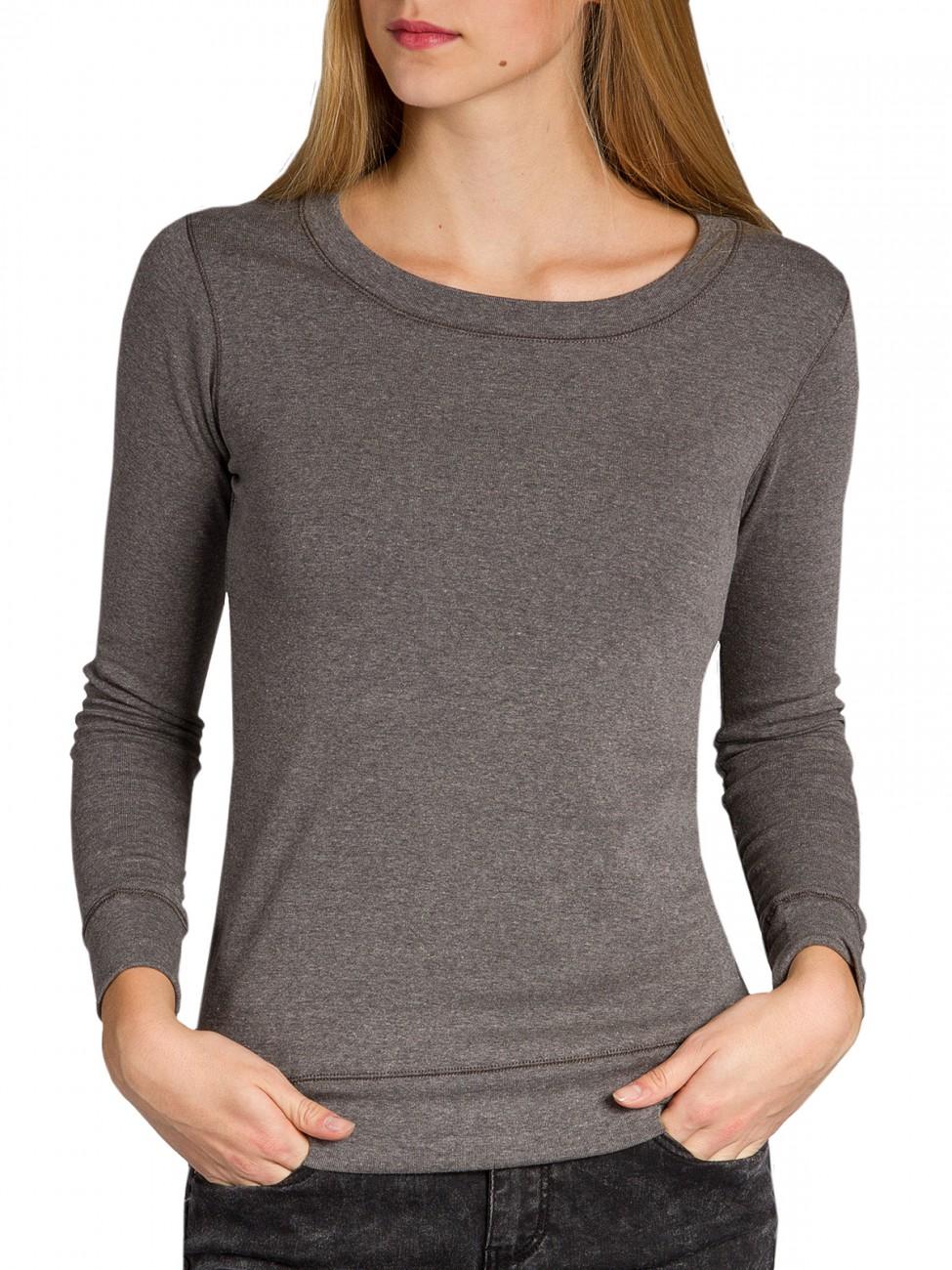 caspar damen pullover langarm basic shirt stretch oberteil. Black Bedroom Furniture Sets. Home Design Ideas