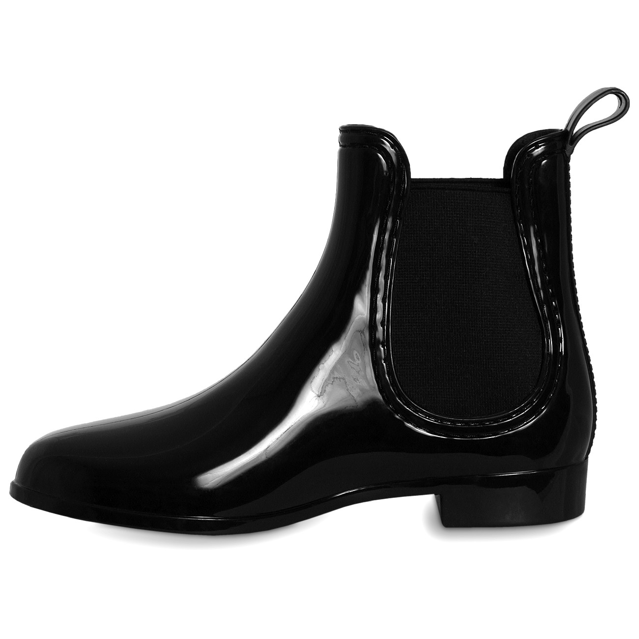 caspar womens patent rubber ankle boots wellies rubber boots shoes. Black Bedroom Furniture Sets. Home Design Ideas