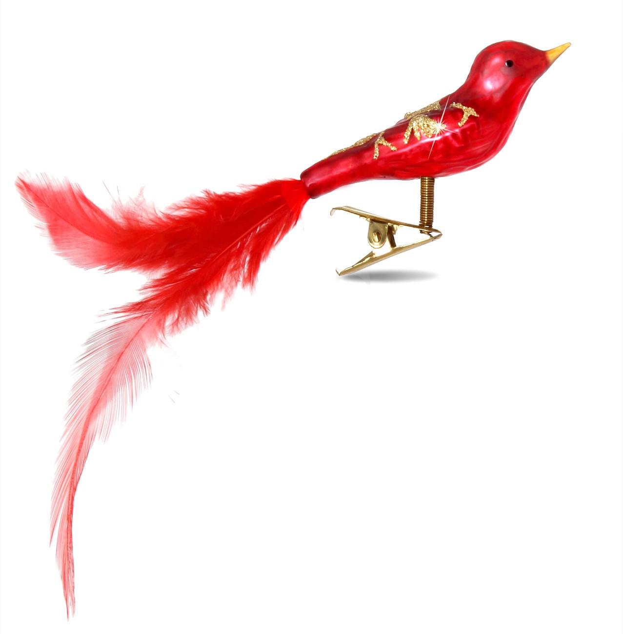 sikora christbaumschmuck glas ornament clip vogel mit