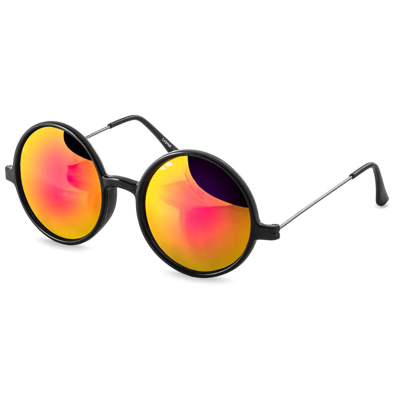 caspar damen herren retro hippi sonnenbrille mit runden gl sern gro. Black Bedroom Furniture Sets. Home Design Ideas