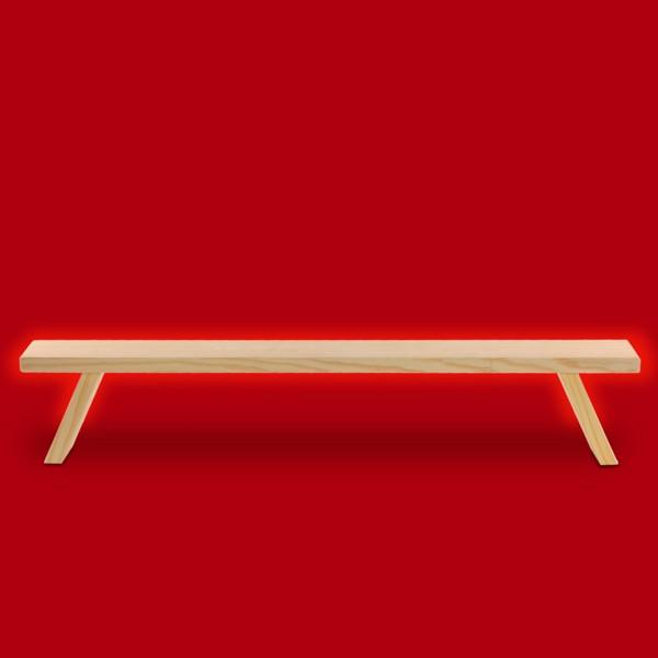 sikora b1 einfache holz schwibbogenbank l 60 cm. Black Bedroom Furniture Sets. Home Design Ideas
