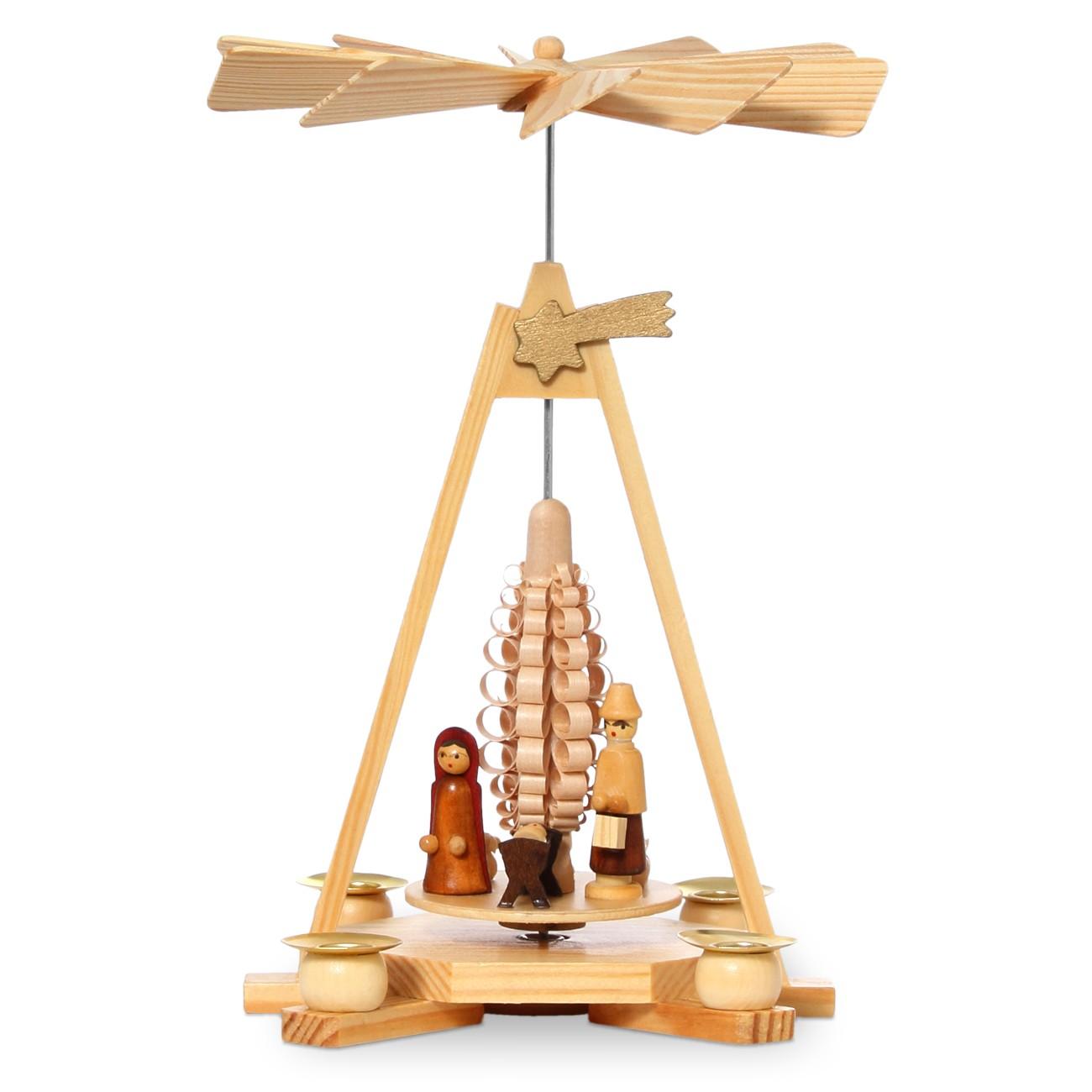 sikora klassische holz weihnachtspyramide mit krippen motiv f r wachskerzen h 26cm. Black Bedroom Furniture Sets. Home Design Ideas