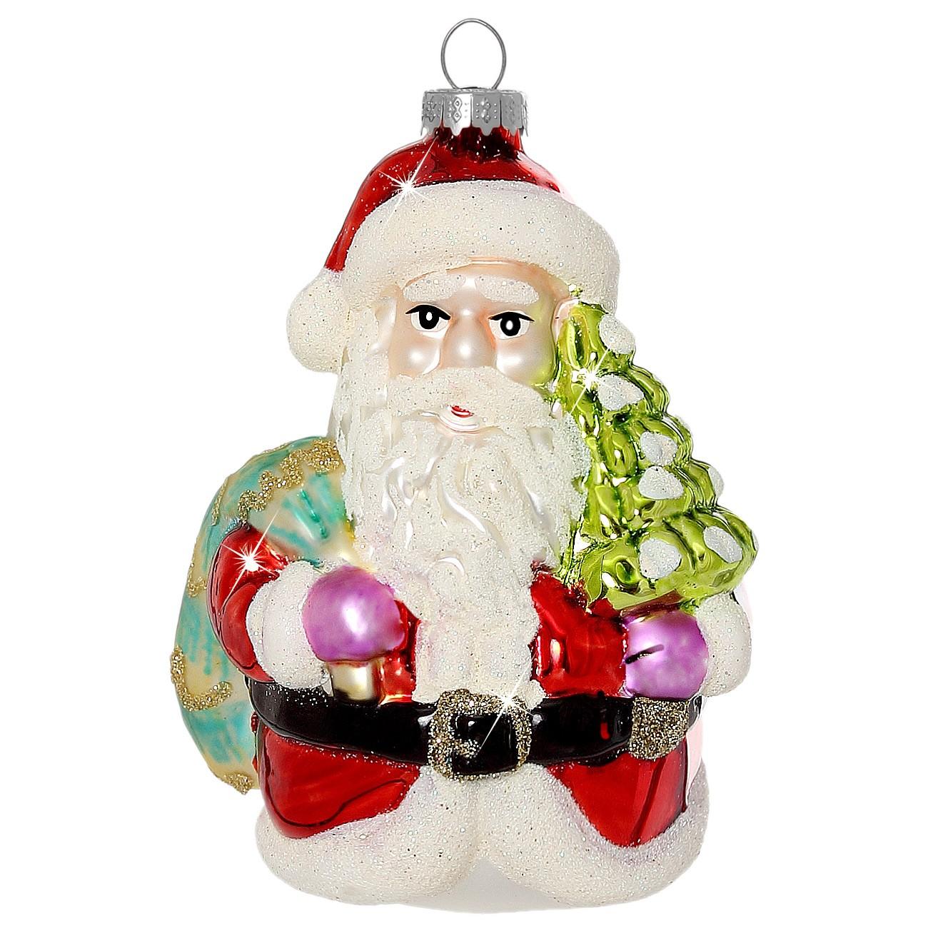 sikora christbaumschmuck glas ornament weihnachtsmann h 10cm christbaumschmuck coloriertes glas. Black Bedroom Furniture Sets. Home Design Ideas