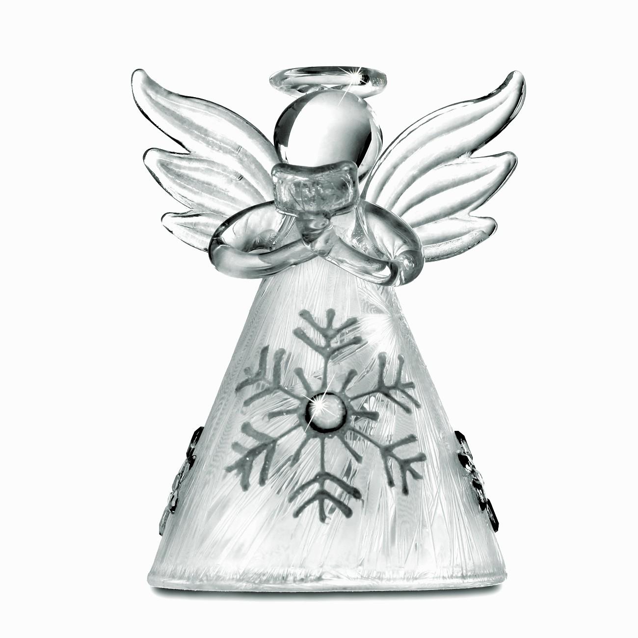 sikora christbaumschmuck aus glas engel mit eiskristall 3er set h 7cm christbaumschmuck. Black Bedroom Furniture Sets. Home Design Ideas