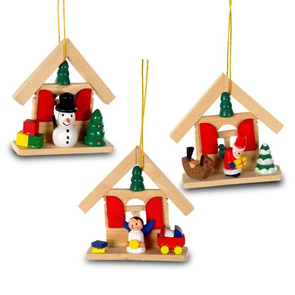 sikora bs299 christbaumschmuck aus holz haus natur 3er set h 8cm christbaumschmuck holz. Black Bedroom Furniture Sets. Home Design Ideas