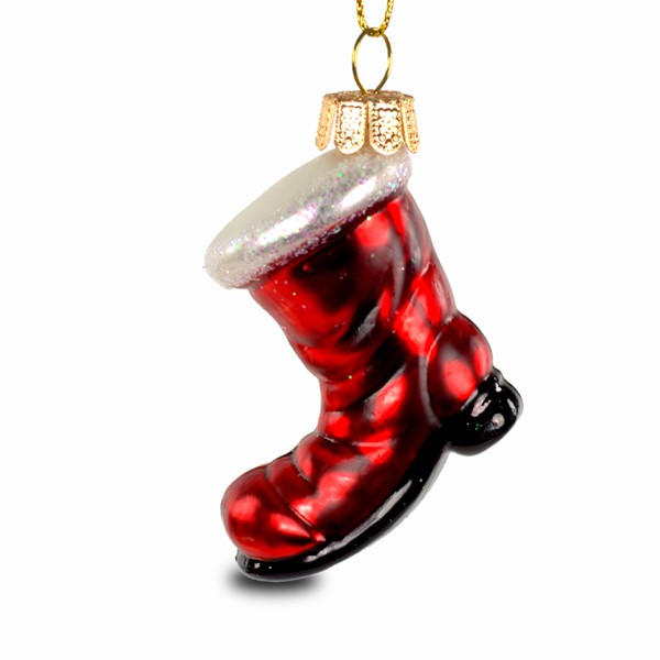 sikora christbaumschmuck glas ornament nikolaus stiefel h 7cm christbaumschmuck coloriertes. Black Bedroom Furniture Sets. Home Design Ideas