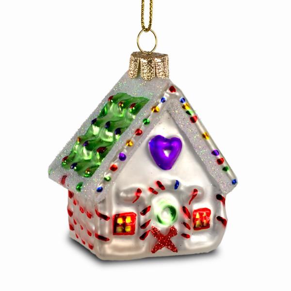 sikora christbaumschmuck glas ornament h uschen mit zuckerstangen h 7cm christbaumschmuck. Black Bedroom Furniture Sets. Home Design Ideas